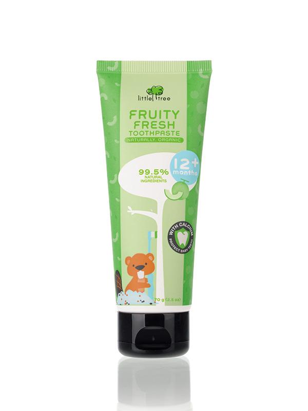 Little Tree Fruity Fresh Toothpaste_12+months 70g(Melon) Pasta Gigi Organik Anak Bayi