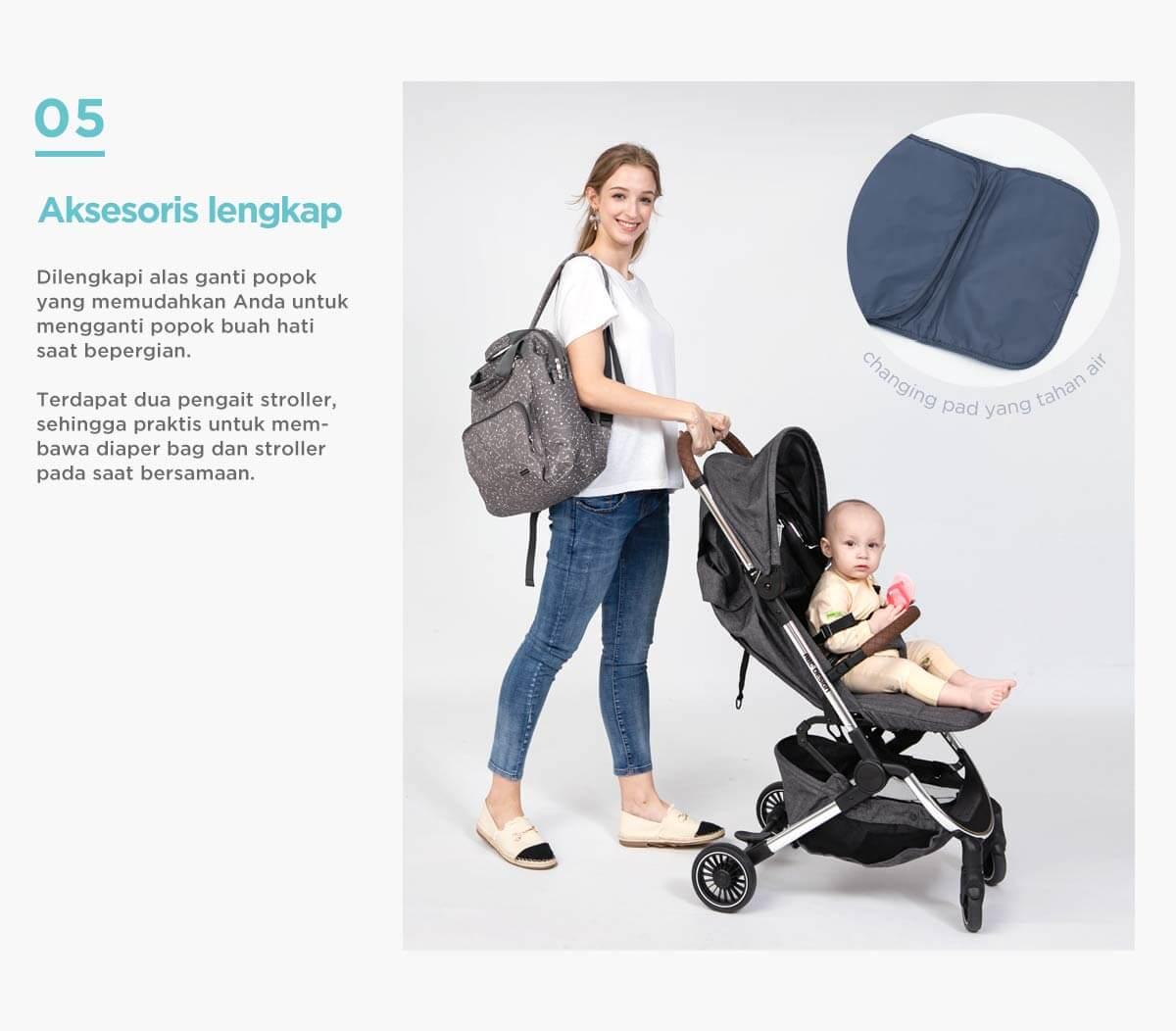 rekomendasi diaper bag untuk travelling