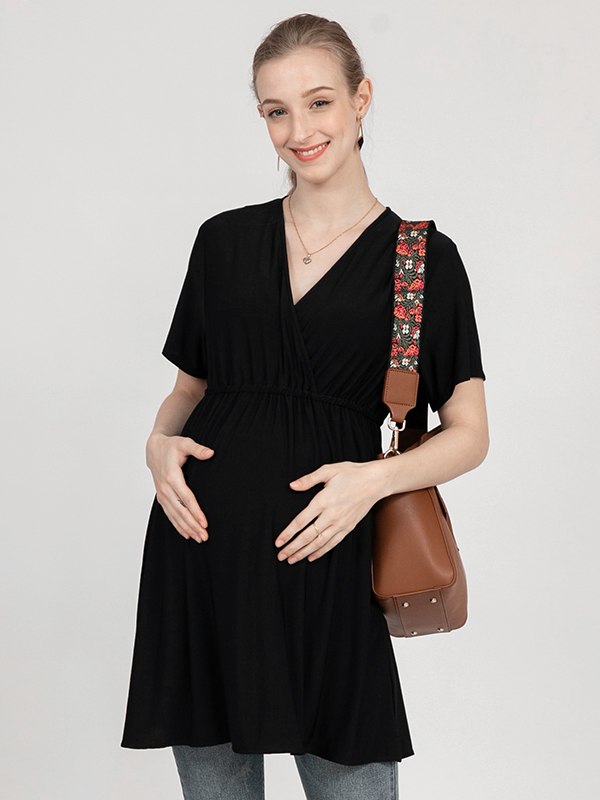 one gallery picture for MOOIMOM Blouse V-Neck Maternity & Nursing Top - Baju Hamil & Menyusui