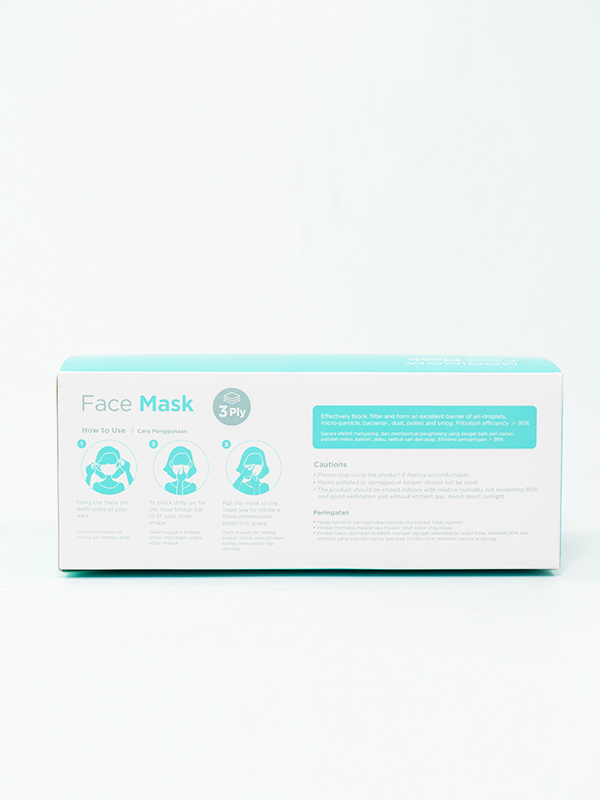gallery picture of MOOIMOM Disposable Face Mask 30 Pcs - Masker Sekali Pakai Dewasa