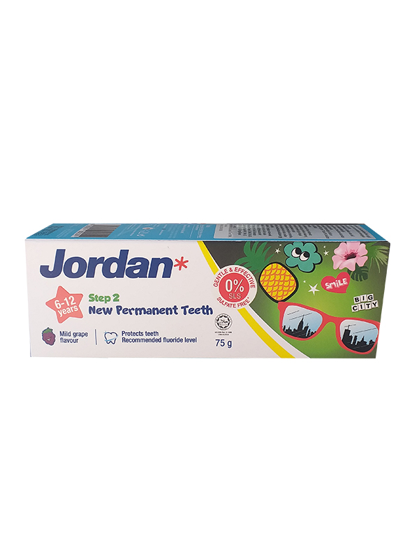 one gallery picture for JORDAN Kids Toothpaste Step2 6-12 Year - Pasta Gigi Anak