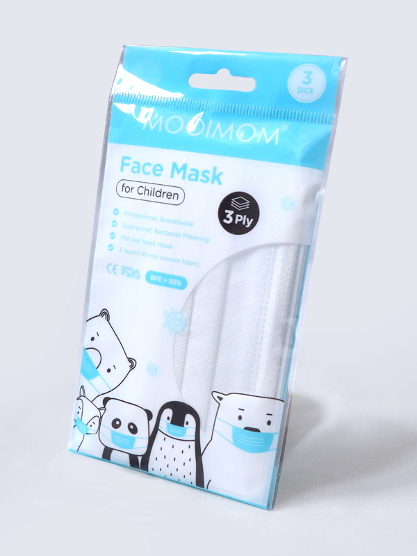 one gallery picture for MOOIMOM Disposable Face Mask 3 Pcs - Masker Anak