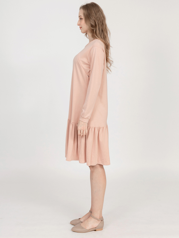 one gallery picture for MOOIMOM Side Zip with Rample Maternity & Nursing Dress - Baju Hamil & Menyusui