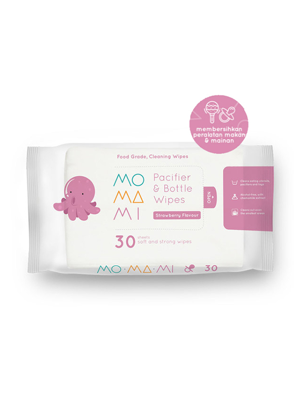 one gallery picture for MOMAMI Pacifier & Bottle Wipes 30 - Tisu Basah