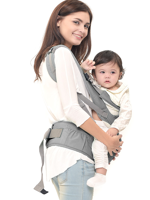 one gallery picture for MOOIMOM Lightweight Hipseat Carrier Gendongan Bayi Grey