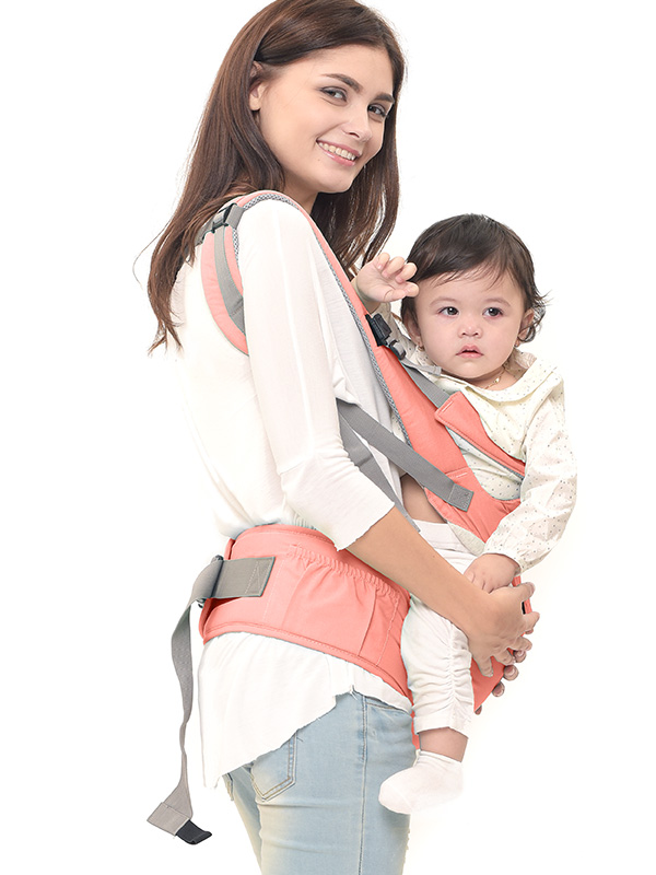 one gallery picture for MOOIMOM Lightweight Hipseat Carrier Gendongan Bayi Peach