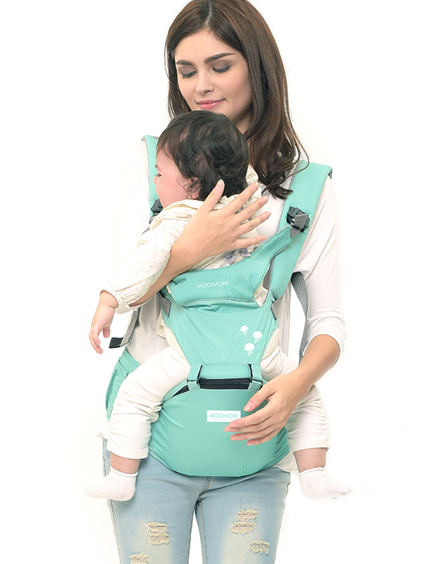 one gallery picture for MOOIMOM Lightweight Hipseat Carrier Gendongan Bayi Tiffany Blue