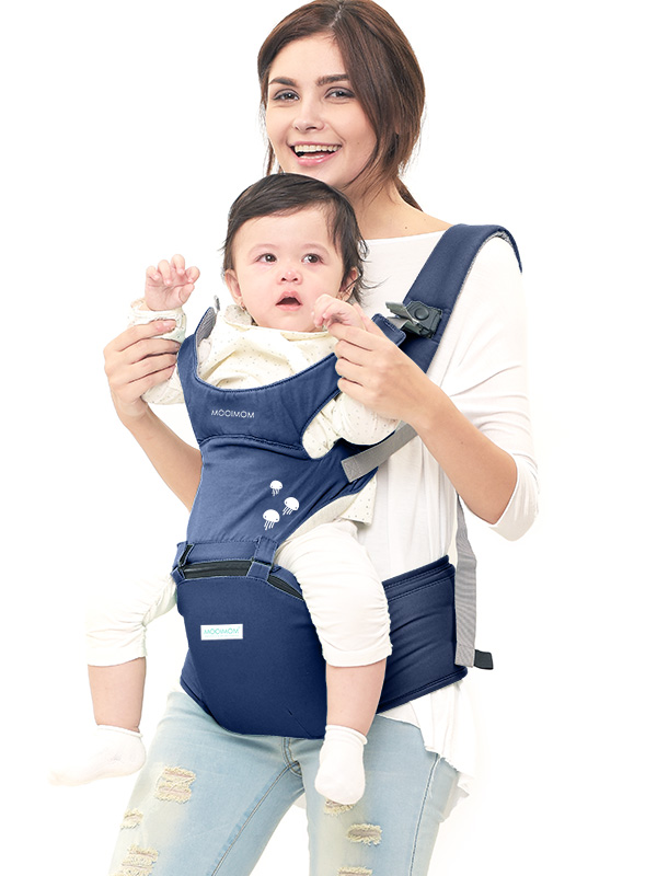 main mobile picture for MOOIMOM Lightweight Hipseat Carrier Gendongan Bayi Navy