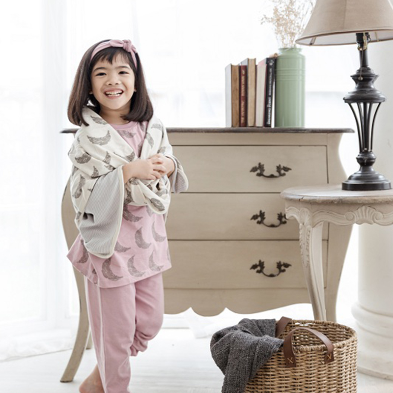 one gallery picture for [COTTONARIES] Pyjamas Moon Pink - Baju Tidur Anak