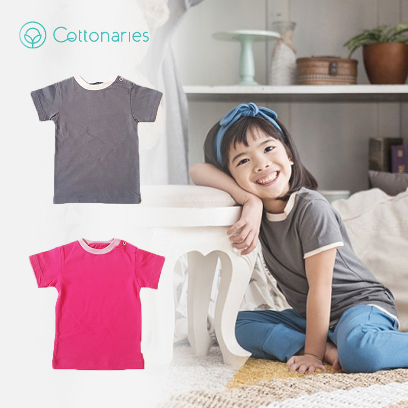 one gallery picture for [COTTONARIES] T-shirt Smoke Raspberry