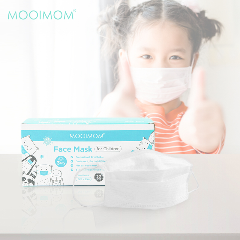 main mobile picture for MOOIMOM Disposable Face Mask 30 Pcs - Masker Anak