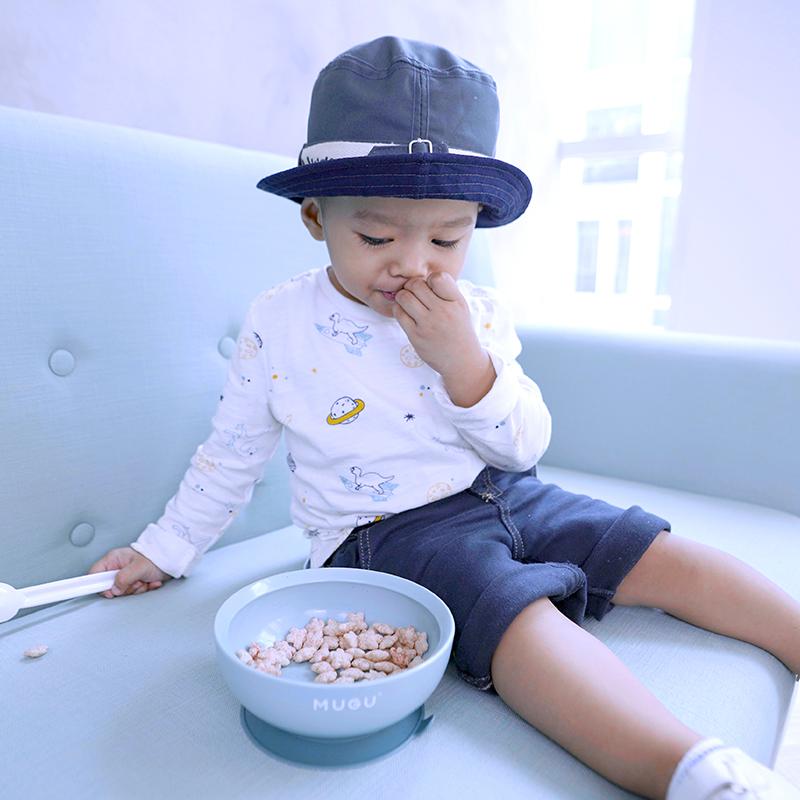 one gallery picture for [MUGU] Mangkok Makan Bayi Anak Anti Tumpah   Suction Bowl 450ml