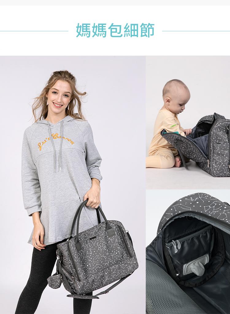 媽媽包,幾何星空媽媽包,旅行袋,萬用旅行袋,幾何星空媽媽包萬用旅行袋,媽媽包細節