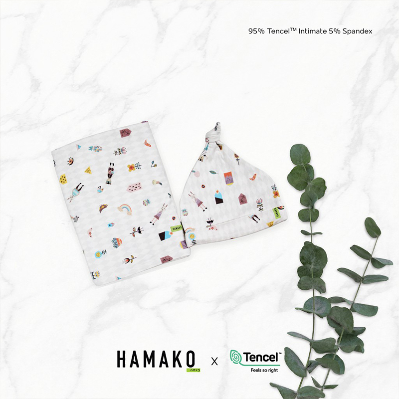 one gallery picture for [HAMAKO] Set Topi & Selimut Bayi Knot Beanie & Blanket