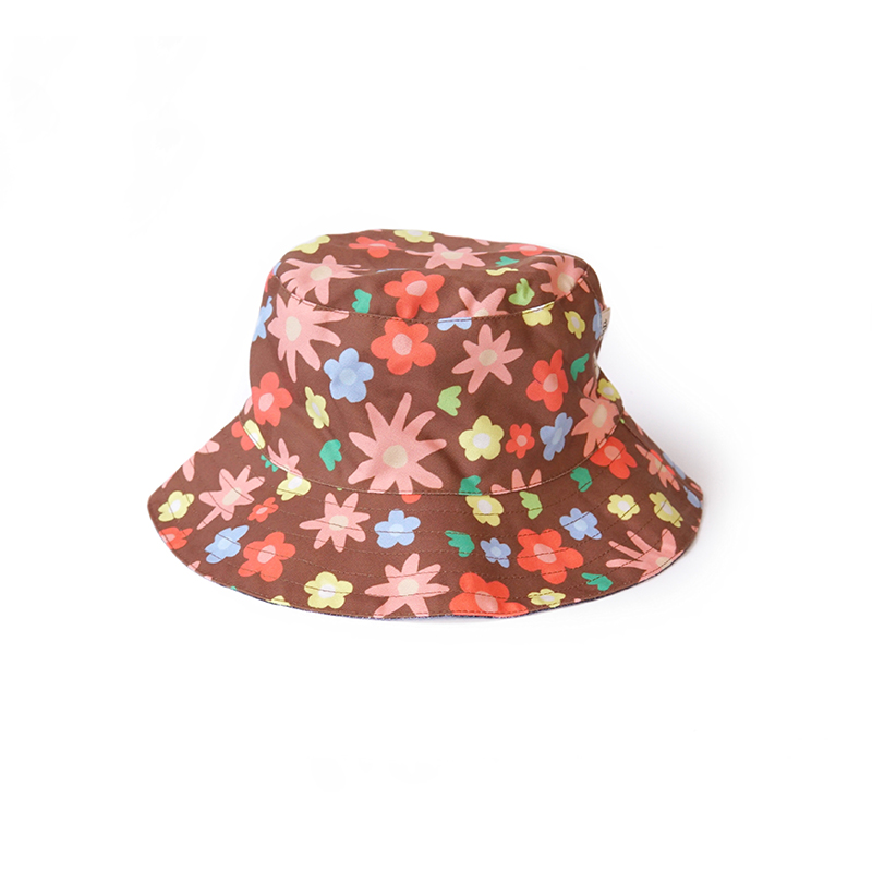 one gallery picture for [MAMA KARTI] Bucket Hat Blue Flower - Topi Moms
