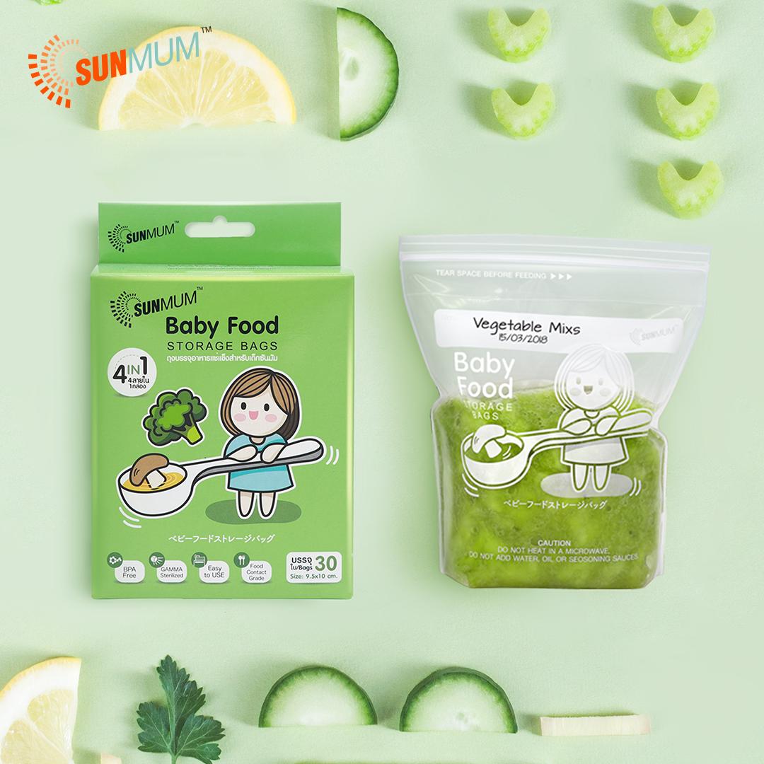 main mobile picture for [SUNMUM] Food Storage Bags Kantong MPASI Bayi (30 Bag)