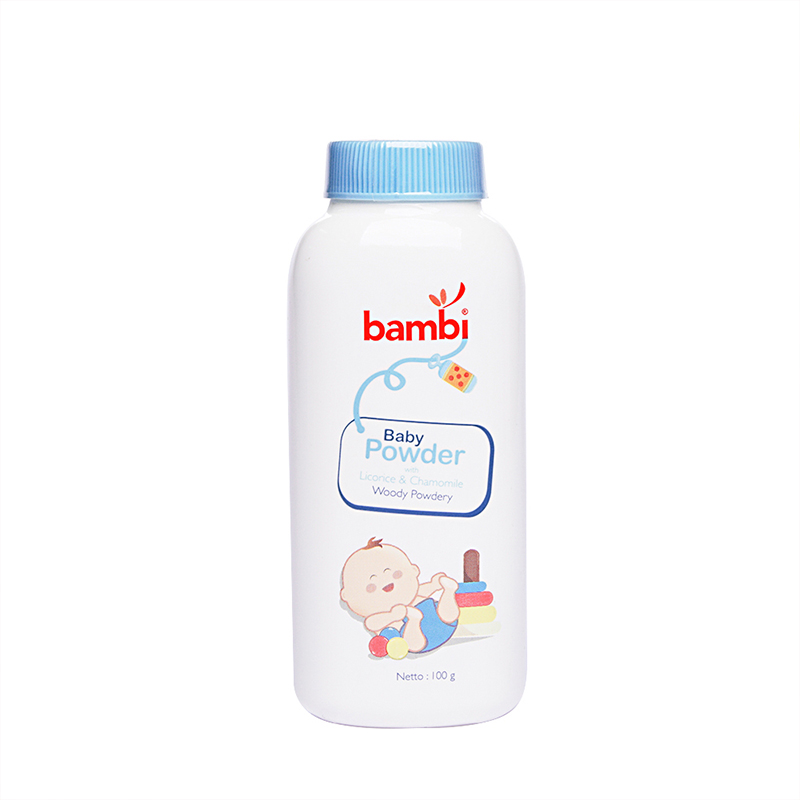 one gallery picture for [BAMBI] Baby Powder with Licorice & Chamomile - Woody Powdery 100gr - Bedak Bayi
