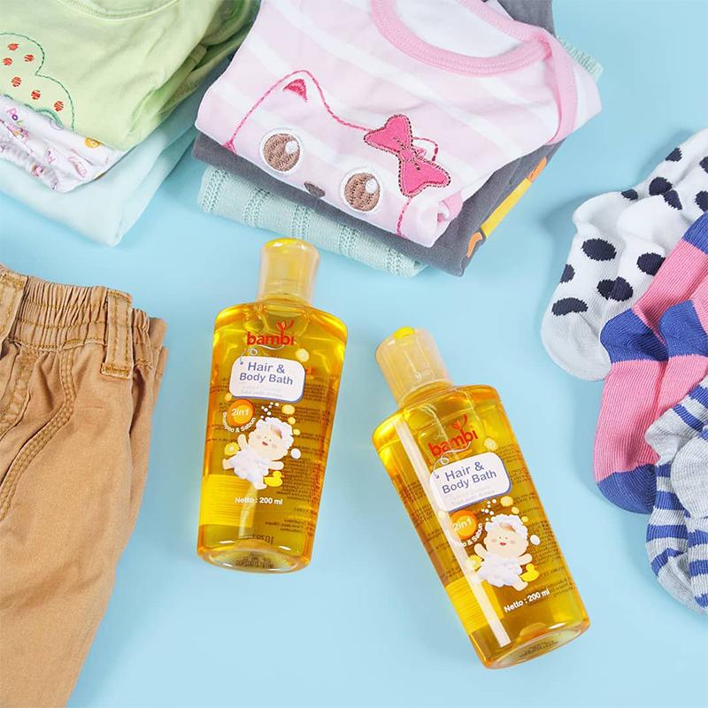 one gallery picture for [BAMBI] Baby Hair & Body Bath 200ml - Sabun Bayi Anak