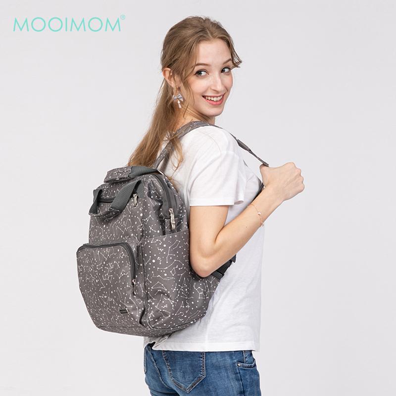 main mobile picture for MOOIMOM Fashionable Diaper Bag Dark Grey