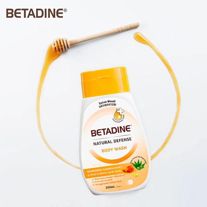 one gallery picture for [BETADINE] Body Wash Honey 200ml - Sabun Mandi Cair
