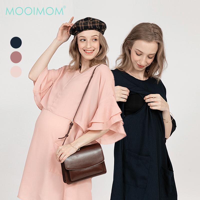 main mobile picture for MOOIMOM Double Flair Sleeve Maternity & Nursing Dress - Baju Hamil & Menyusui