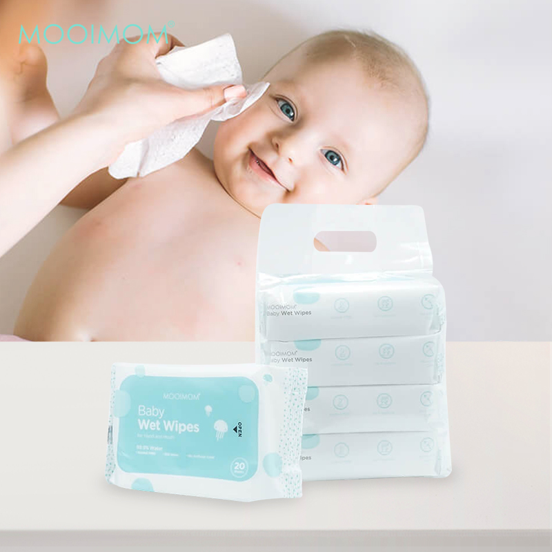 main mobile picture for MOOIMOM Wet Wipes (5 Pack isi 100 Lembar)