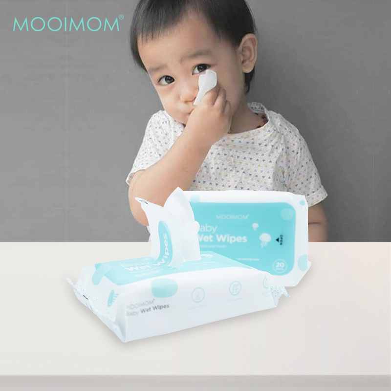 main mobile picture for MOOIMOM Wet Wipes (1 Pack isi 20 Lembar)