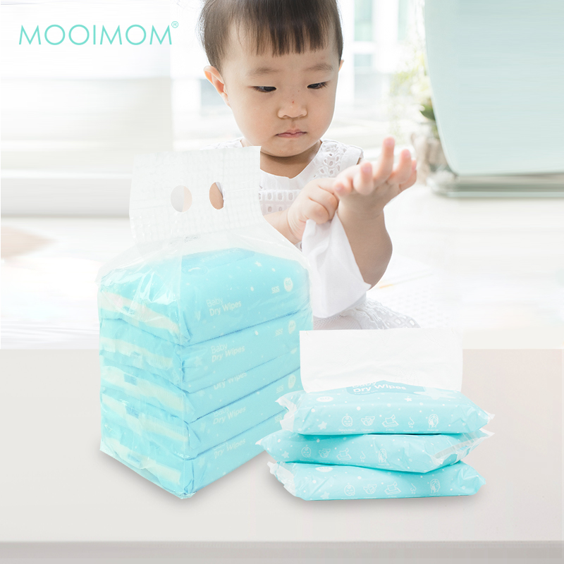 main mobile picture for MOOIMOM Baby Dry Wipes Pack (5 Pack isi 300 lembar)