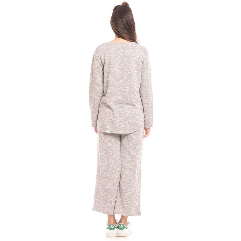 one gallery picture for MOOIMOM Warm Long Sleeves Top & Trouser Set Baju Hamil & Menyusui