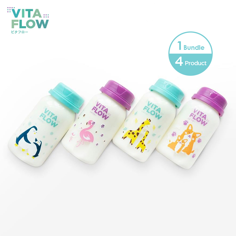 one gallery picture for [VITAFLOW] Botol ASI 3in1 PP 140ml 1 Paket 4 pcs Animal