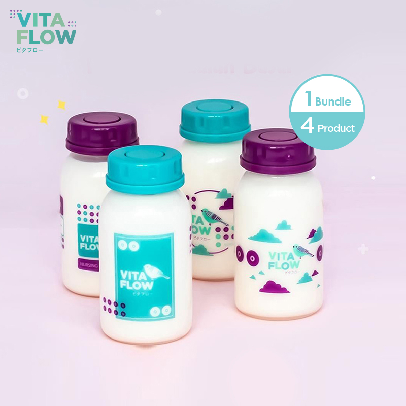 one gallery picture for [VITAFLOW] Botol ASI 3in1 PP 140ml 1 Paket 4 pcs