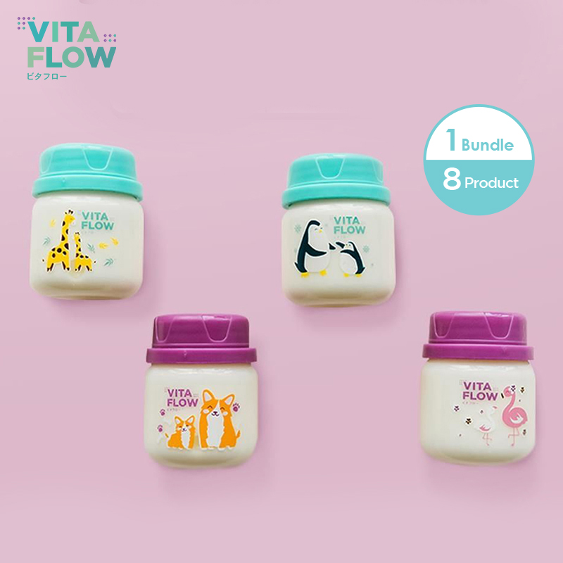 one gallery picture for [VITAFLOW] Botol ASI 3in1 PP 60ml 1 Paket 8 pcs  Animal Series