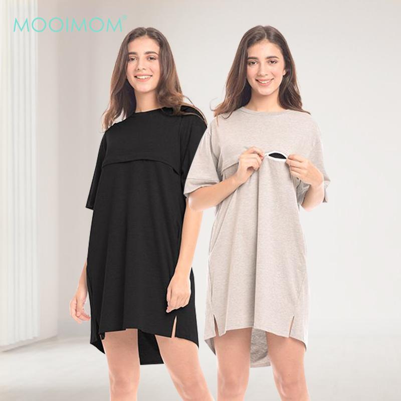 main mobile picture for MOOIMOM Tie Knot Back Maternity & Nursing Dress Baju Hamil & Menyusui