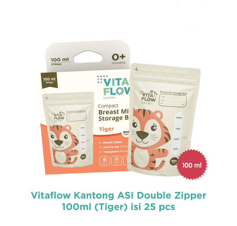 one gallery picture for [VITAFLOW] Kantong ASI Animal 100 ml  - Double Zipper Anti Bocor