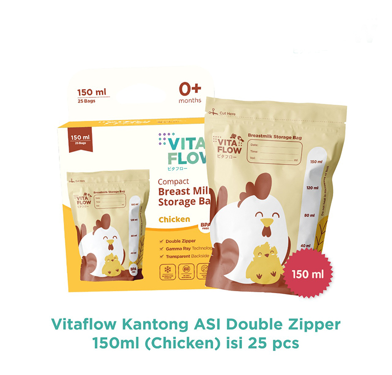 one gallery picture for [VITAFLOW] Kantong ASI 150ml Animal - Double Zipper Anti Bocor