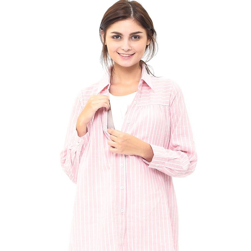 gallery picture of MOOIMOM Maternity and Nursing Stripe Shirt Baju Hamil Menyusui
