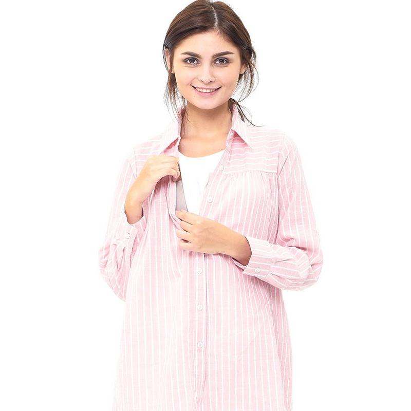 one gallery picture for MOOIMOM Maternity and Nursing Stripe Shirt Baju Hamil Menyusui