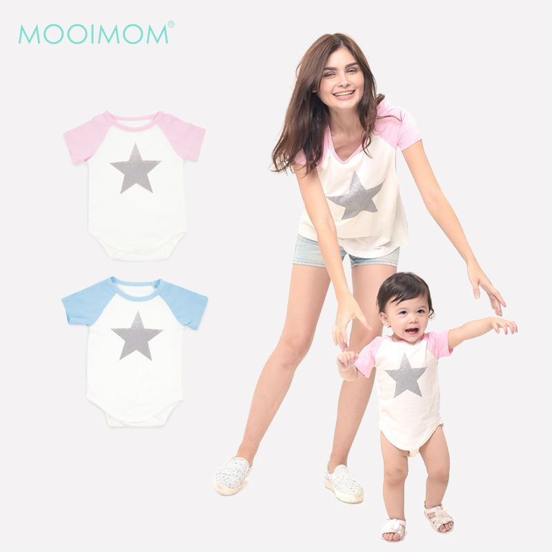 main mobile picture for MOOIMOM Star Nursing T-shirt Couple Set Baju Hamil Menyusui Couple Ibu Anak