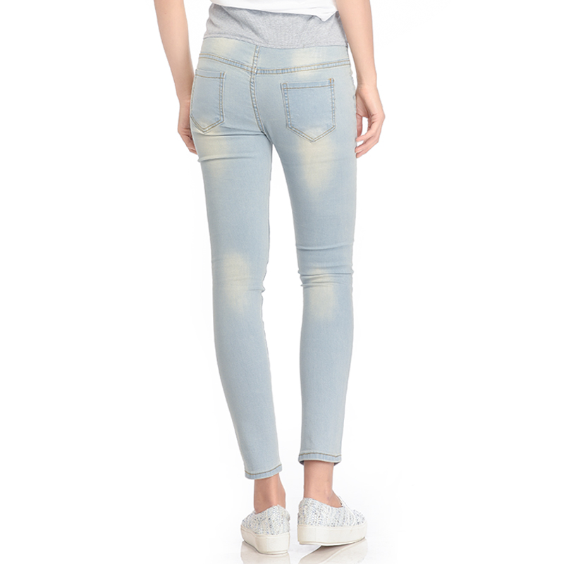 gallery picture of MOOIMOM Skinny Maternity Jeans with Rips Celana Jeans Hamil