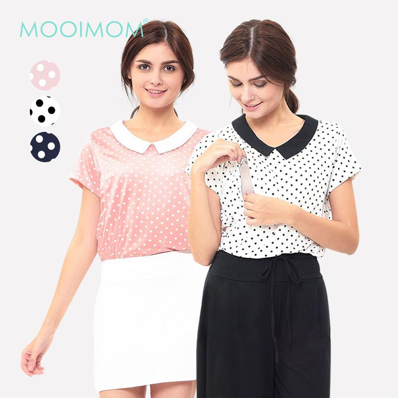 main mobile picture for MOOIMOM Vintage Nursing Top in Polka Dot Baju Hamil Menyusui