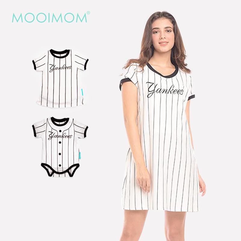 main mobile picture for MOOIMOM One Piece Vertical White Striped Maternity & Nursing Dress Baju Hamil & Menyusui