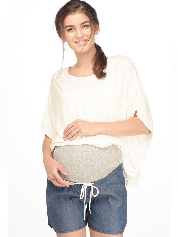 Denim Maternity Shorts Celana Pendek Ibu Hamil