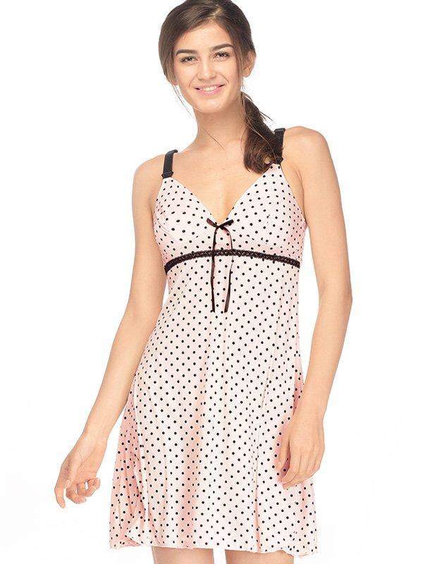 Ice Silk Maternity & Nursing Pajamas Dress / Baju Tidur Ibu Hamil Menyusui