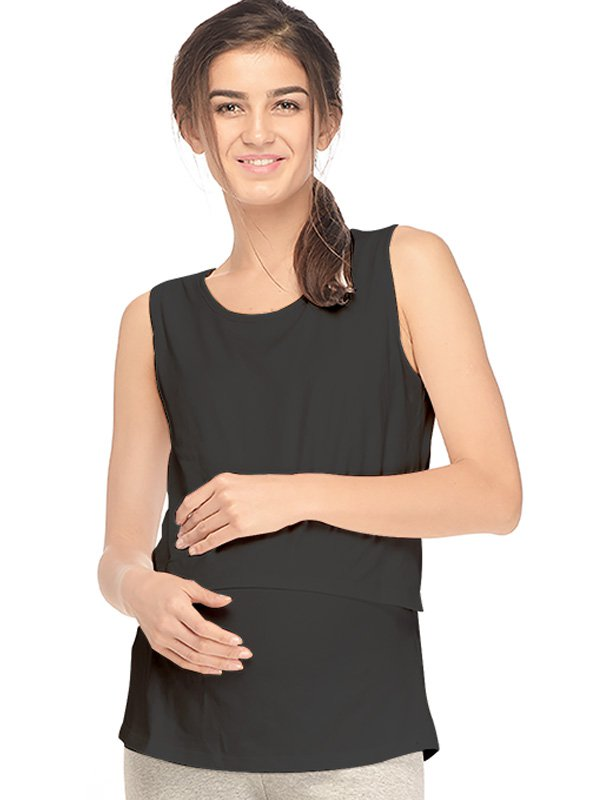 Baju Hamil Menyusui Murah I Maternity & Nursing Tanktop - MOOIMOM