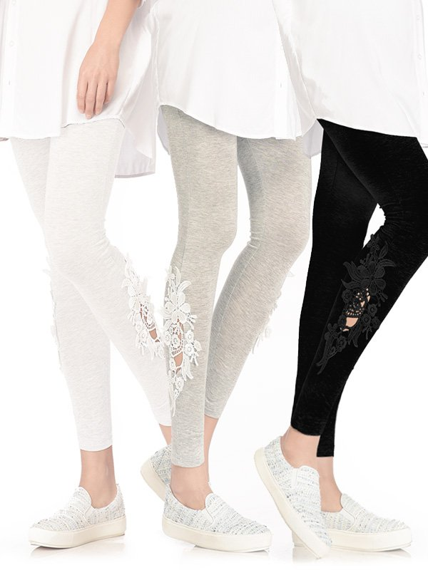 3 Pack Lace Leggings