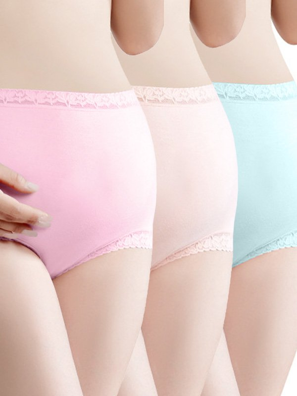 3 Pack Lace Hight Waist Briefs