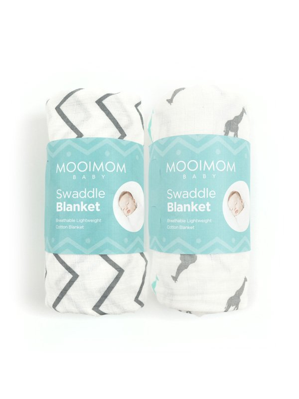 2 Pack Baby Muslin Swaddle Blankets