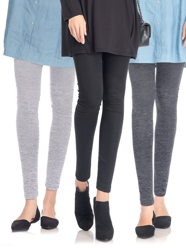 3 Pack Low Waist Leggings