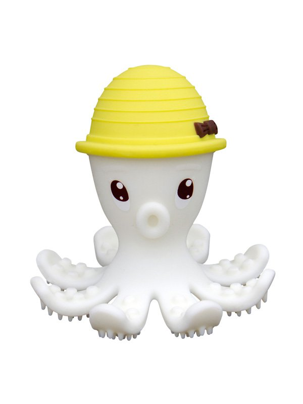 Mombella Octopus Teether Toy Doo - Lemon