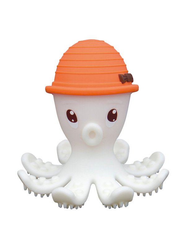 Mombella Octopus Teether Toy Doo - Orange